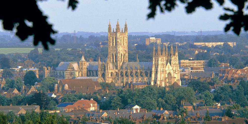 Canterbury Cathedral, Britain's oldest cathedral, in Kent's Capital City